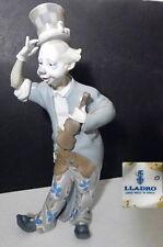 "Lladro CLOWN With VIOLIN Figurine, #1126, Large 13 3/4"", Rare !"