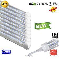 10 PACK of LED T12 4FT Linkable Led Shop Lights Super Bright White NEW - 6500k