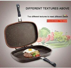 Die-Cast Double Sided MBH Non-stick Grill Pan Frying Pan 36 cm Fordable Pan