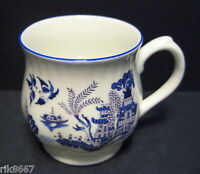 Willow Pattern Bulbous English Fine Bone China Mug Cup By Milton China