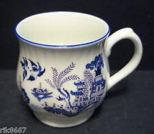 Willow Pattern Bulbous English Fine Bone China Mug Cup By Milton China