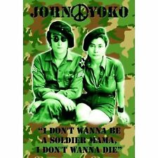 The Beatles John Lennon Postcard I Don't Wanna Be A Soldier Mama 100% Official