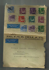 1938 Netherlands Indies airmail cover to Brunn Czechoslovakia CGD Ihle Company 2