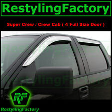 09-14 Ford F150 Crew Cab SuperCrew Chrome 4 Door Window Visor Rain Sun Guard