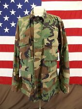 Woodland Camouflage Army Jacket Coat Men's Stow A Way Hood Size Med/Reg