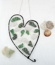 Sea Glass Sun Catcher - Heart - Hand Crafted Glass Heart - Valentine Gift