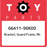 66411-90K00 Toyota Bracket, guard frame, rh 6641190K00, New Genuine OEM Part