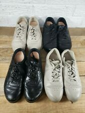 Lot of 4 pairs SAS Women's Free Time Shoes 6.5 M  black beige leather walking C1