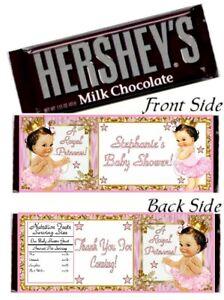 12 Royal Princess Baby Shower Hershey Candy Bar Wrapper Birthday Brown Hair