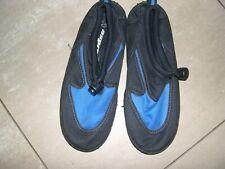 Blue/black beach shoes size 2