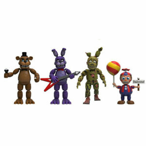 FNAF Five Nights At Freddy's 4 PCS Game PVC Action Figure Kids Toy Doll No Box