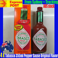 4 x HUGE!!!!TABASCO Sauce 355 ml Original Flavor