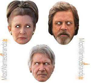 Rubies card mask * Leia, Luke Skywalker, Han Solo * Star Wars * Maske aus Pappe