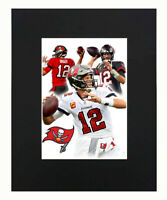 Tom Brady Tampa Bay Buccaneers Football Portrait Print Decor Poster Matted 11x14