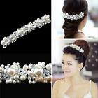 Chic Bride Hair Comb Clip Crystal Rhinestone Pearl Wedding Bridal Tiara Hairpin