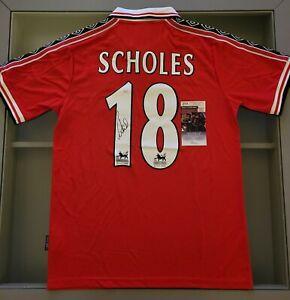 Paul Scholes Signed Manchester United 98/99 Treble Season Umbro Jersey (JSA)