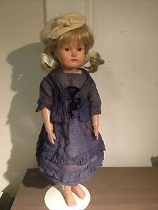 """22"""" Schoenhut Wooden Doll Antique Girl with Vintage Clothing"""