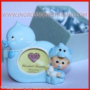 Bonboniere Fotohalter Gänschen Baby Himmlisch Rahmen Taufe Geburt + Box