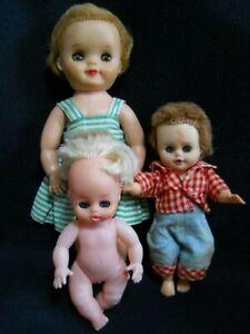 3 Vintage Sleepy Eyed Baby Dolls