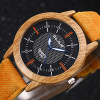 2019 New Nature Wooden Watch Minimalist Bamboo Denim Fashion Cool Watch Unisex