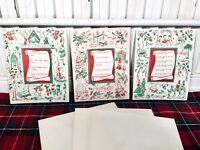 Vintage 1950's Unused Christmas Cards Religious Verses~Luke & Psalm~ Set of 19