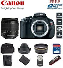 Canon EOS Rebel T3i / EOS 600D 18.0MP DSLR Camera (Kit w/ 18-55mm lens) (2 LENS)