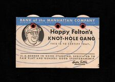 >Old 1953 *Happy Felton Knot-Hole Gang/Brooklyn Dodgers* VINTAGE BASEBALL SCORER