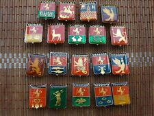 Collection Vintage Badge Pin Icon Emblem City of Russia 19 pieces,USSR
