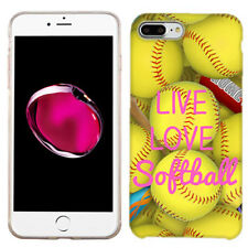 For Apple iPhone 8 Love Softball Case Skin Cover