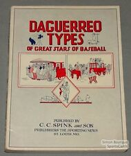 "1951 ""Daguerreo Types of Great Stars Of Baseball "" Book"
