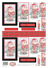Buzzcraft Die Cut Decoupage Sheet- Christmas Fairy Doodles - 417 Oblong Stackers