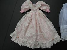 PINK DRESS for ANTIQUE REPRODUCTION, FRENCH FASHION, VICTORIAN or ARTIST DOLL
