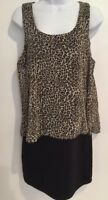 Body Central Women Dress Black Animal Print Size Large