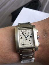 Cartier Tank Francaise chronoflex Unisex Reloj Ref 2303
