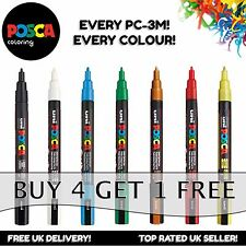 Uni Posca PC-3M Paint Marker Pens - Fine Nib - Every Colour - Buy 4 Pay For 3