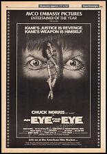 AN EYE FOR AN EYE__Original 1981 Trade AD film promo / poster__CHUCK NORRIS_MAKO