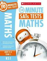 10-Minute SATs Tests for Maths - Year 1 by Hollin, Paul, NEW Book, (Paperback) F
