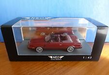 DODGE 600 CONVERTIBLE DARK RED METAL 1984 NEO 44995 1/43 LHD LEFT HAND DRIVE