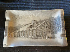 Wendell August Forge Aluminum Tray Depicting North Fork Lodge
