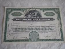 Vintage share certificate Stock Bonds Grigsby grunow company majestic radio 1932