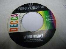 Webb Pierce Walking The Streets / How Do You Talk To a Baby 45 Decca VG+