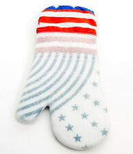 Heat Resistant Silicone Oven Mitt or Glove American Theme Flag (Blue Stars)
