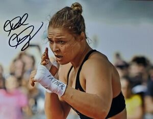 Ronda Rousey Hand Signed 8x10 Photo W/ Holo COA UFC
