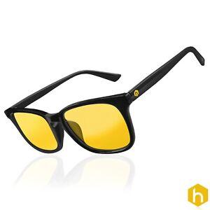 NEW Hex Gaming Glasses Anti Glare Yellow Lens Gaming PC Gamers Blue Light Block