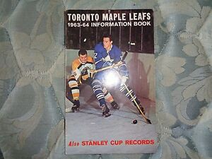 1963-64 TORONTO MAPLE LEAFS MEDIA GUIDE Yearbook 1964 NHL CHAMPS! Press Book AD