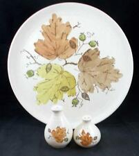 Metlox WOODLAND GOLD Chop Plate + Salt & Pepper no signs of use GREAT CONDITION