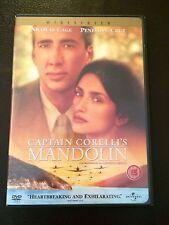 Captain Corelli's Mandolin (DVD, 2011) nicolas cage, john hurt, region 1 usa dvd