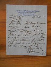 Antique 1903 Ichabod T. Williams & Son Mahogany Veneers New York Chicago Lumber