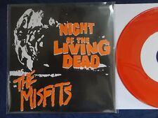 "Misfits- Night Of The Living Dead Vinyl 7"" ORANGE NM+ RARE! Danzig Samhain Punk"