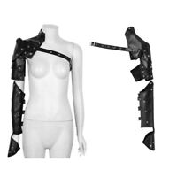 Gothic Punk Metal Rivets Shoulder Armors with Arm Strap Set Adjustable Cosplay
